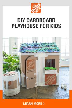 DIY Cardboard Playhouse for Kids